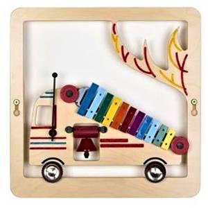 Bilde av Veggpanel med lyd-xylofonbrannbil