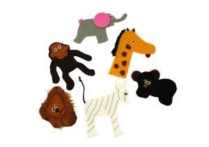 Bilde av Zoo fingerdukker, sett med 6stk